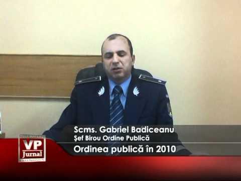 Ordinea publică în 2010