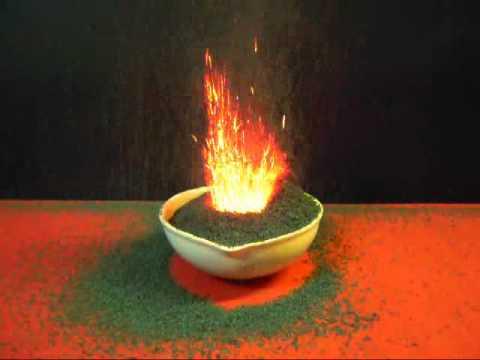 ecco come creare una reazione vulcanica in laboratorio