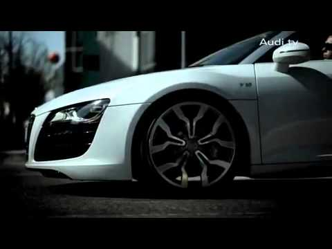 Audi R8 Spyder Реклама Audi R8 V10 Spyder