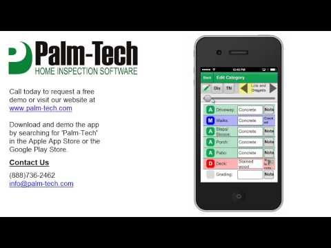 Video of Palm-Tech Inspection Software