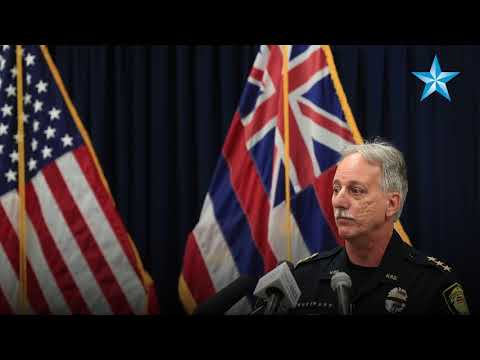 Honolulu Police Department press conference on police shootout in Nankuli