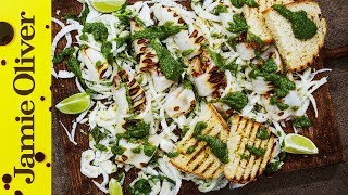 Chargrilled Squid With a Pesto Dressing | Akis Petretzikis by Jamie Oliver