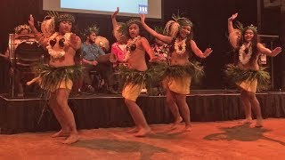 "Accompanied by traditional drumming, Cook Island girls dance the ""Ura"", in which gestures and movements tell a story and ..."