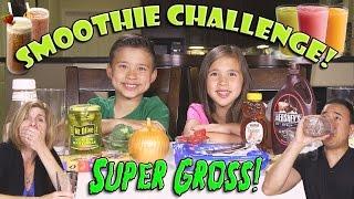 SMOOTHIE CHALLENGE! Super Gross Smoothies - GOTTA DRINK IT ALL!
