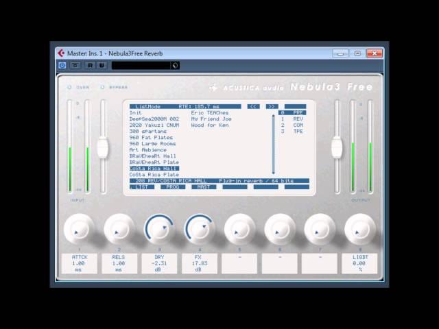 Nebula3 Free Reverb by Acustica audio