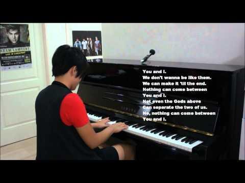 "One Direction ""You and I"" Piano Cover (w/ Lyrics Karaoke Acoustic) You & I"