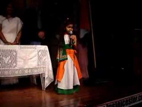 jana gana mana (Indian national anthem) sang by Shriya Patel