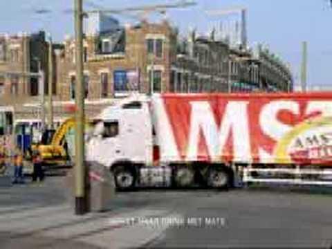 Amstel Bier Beer TV-commercial - Truck vrachtwagen