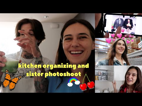 kitchen organizing & sister shoot~devon lee carlson🌟