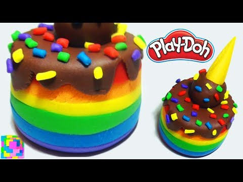 Play-Doh Rainbow Cake How to Make. Play Doh Food. Creative DIY for Kids. Funny Lerning