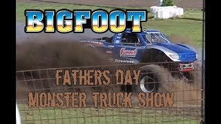 Monster Trucks came to town so we thought it would be a good Fathers Day treat to see our favorite monster truck BigFoot!