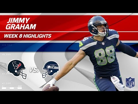 Video: Jimmy Graham Grabs 2 TDs vs. Houston! | Texans vs. Seahawks | Wk 8 Player Highlights