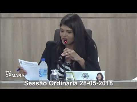 Sessão Ordinária do dia 28/05/2018
