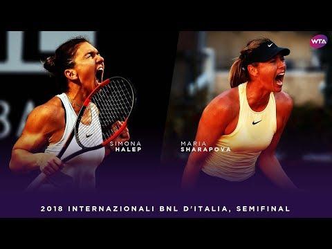 Simona Halep vs. Maria Sharapova | 2018 Internazionali BNL d'Italia Semifinal | WTA Highlights (видео)