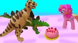 MLP Dinosaurs & Donuts Pinkie Pie Rarity Flutteryshy My Little Pony Breakfast Playdoh Toy Play