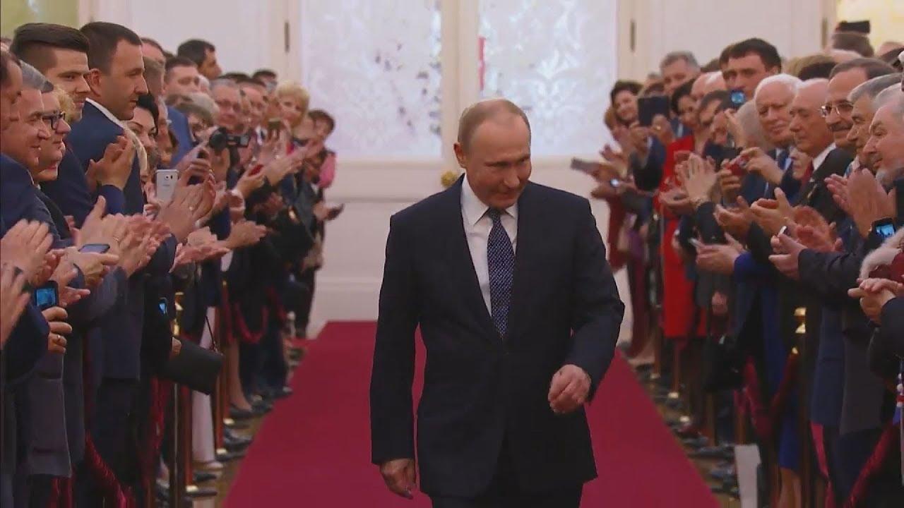 Ο Πούτιν ορκίσθηκε για μια νέα εξαετή θητεία στην προεδρία