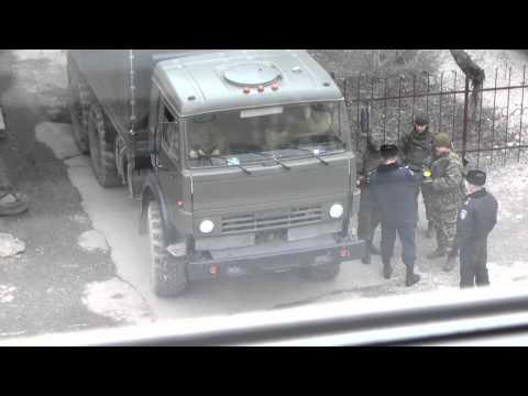 Встреча российских военных с Крымским МВД