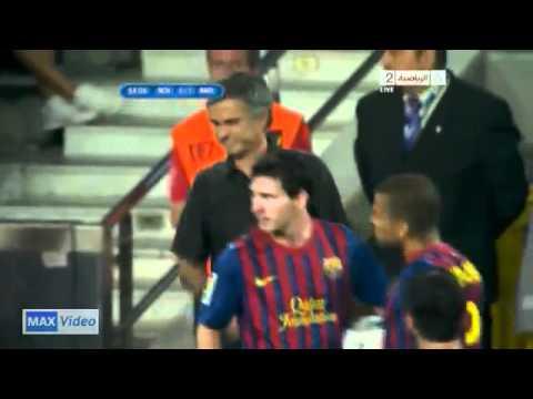 Barcelona VS Real Madrid  messi and Jose Mourinho (видео)