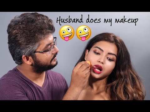 HUSBAND DOES MY MAKEUP TAG! + Q&A