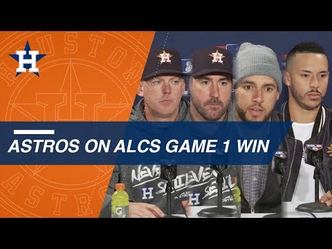 Video: Astros on team's ALCS Game 1 win over Red Sox