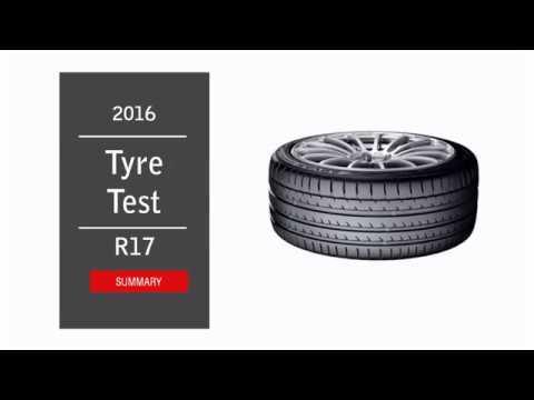 2016 Summer Tyre Test R17 - Summary