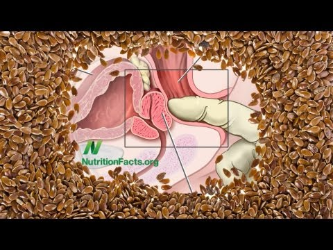 flax seed - Subscribe for free to Dr. Greger's videos at: http://bit.ly/nutritionfactsupdates DESCRIPTION: What happens when men with prostate cancer and prostatic intraepithelial neoplasia (PIN) are...