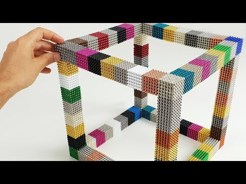Playing with 20000 Magnetic Balls, Giant CUBE | Magnetic Games