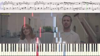 La La Land (попурри) Justin Hurwitz (Ноты и Видеоурок для фортепиано) (piano cover)