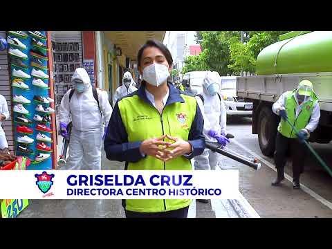 Limpieza y desinfección en el corazón de la ciudad