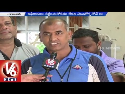 Sports Authority Contract employees demands government for regularization  Hyderabad25042015