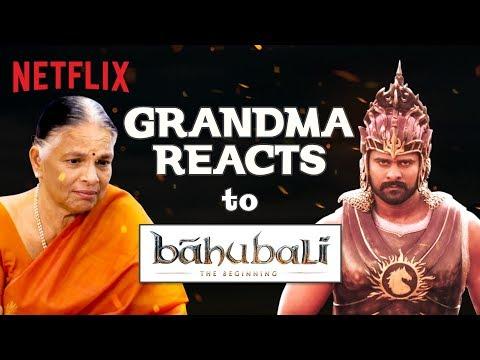 Indian Grandma reacts to Baahubali | Netflix