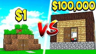 Video $1 DIRT HOUSE vs $100,000 WORLD'S BIGGEST HOUSE! MP3, 3GP, MP4, WEBM, AVI, FLV Juli 2018