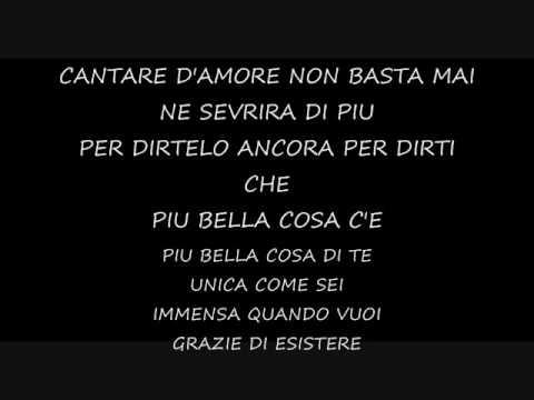 Listen Piu Bella Cosa Eros Ramazzotti