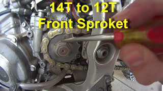 6. Replacing Front Sprocket on Dirt Bike for more Torque and HP