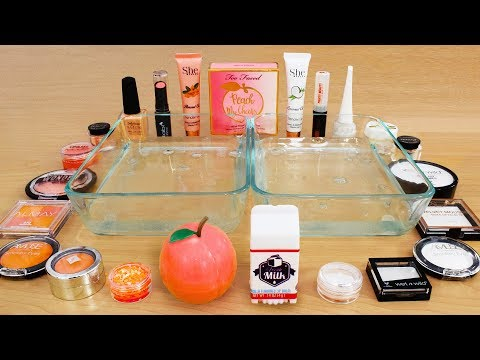Peaches Vs Cream - Mixing Makeup Eyeshadow Into Slime! Special Series 82 Satisfying Slime Video