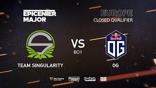 OG vs Team Singularity, EPICENTER Major 2019 EU Closed Quals , bo1 [GodHunt & Inmate]