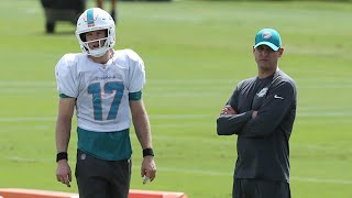"""Dolphins coach Gase on Tannehill: """"He just can't throw"""" at this time''"""