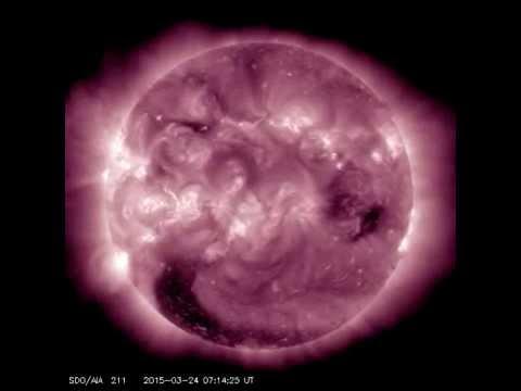 Solar Flare dall'altra parte del sole