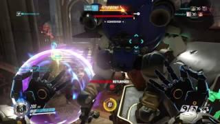 Overwatch: Zenyatta Rapid Discord w/ Nano Boost & Clutch in Ov...