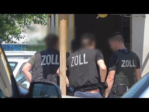 Zoll-Großkontrolle wegen Steuerhinterziehung bei Autohändler in Bonn-Beuel am 06.06.18