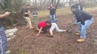 SATANS BACKYARD: another part if the alternate angle of the arabic beef fight between sinjay and tha iraqi dude.