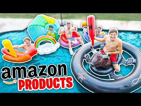Trying WEIRDEST Pool Products on AMAZON