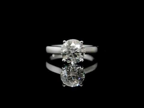 CGL Certified 2.52ct Round Brilliant Cut Diamond Ring