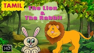 Panchatantra Stories - The Lion&The Rabbit - Tamil Moral Story For Children - Animated Cartoons