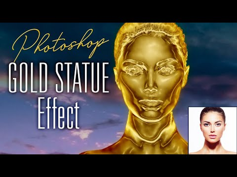 Photoshop: How to Create a Solid GOLD Statue from a Photo!
