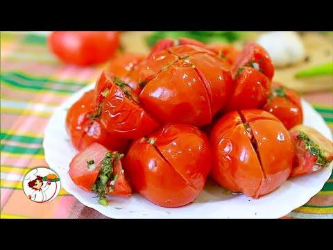 Скорые закусочные помидоры. Суперхит праздничных трапез