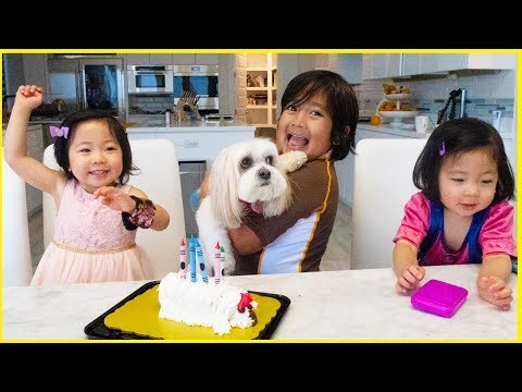 Surprise Dog Birthday Ella With Ryan's Family Review!!!