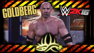 WWE 2K16 - Goldberg - CAW Formula+Entrance & Finisher