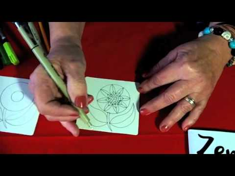 Zentangle®-Inspired Art: Coloring Over Tangles with Water-Based Markers
