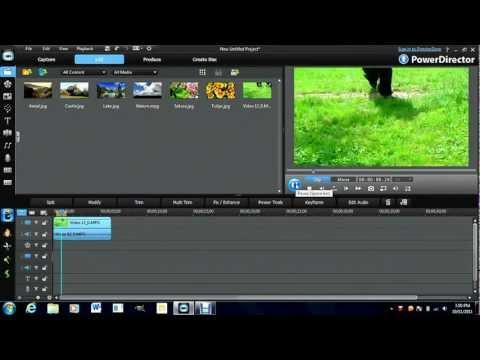 Color Correction, Enhancement, Stabilizer-PowerDirector Turorial